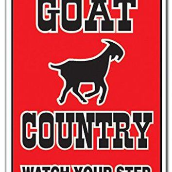 GOAT COUNTRY Sign