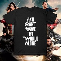 DC Justice League superhero T shirt batman super man t-shirt Summer Cotton Tee Top Flash Aquaman Zack Snyder Wonder Woman Tshirt