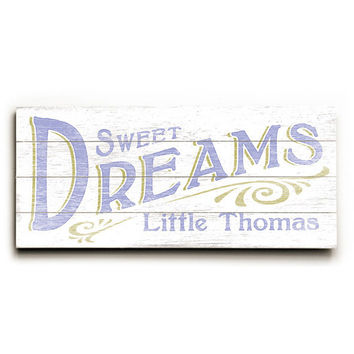 Personalized Kids Sweet Dreams Wood Sign