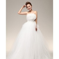 Strapless Ball Gown Floor Length Lace and Tulle Gown Style 1667 $309.68 only in eFexcity.com.