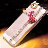 Crystal Diamond Cute Bow Gift Case Cover for iphone 5s 6 6s for iphone 6 6s plus