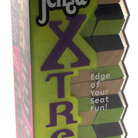 Jenga Xtreme Family Game Precision Crafted Wood Slanted Wooden Stacking Blocks
