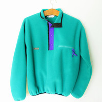 Vintage 1990s Teal Columbia Pullover Fleece