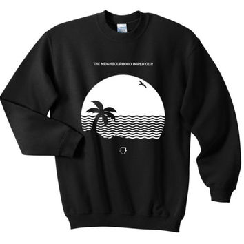 The Neighbourhood Beach House Wiped Out Album Sweatshirts White Black S M L XL