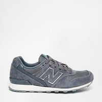 New Balance 996 Grey Suede Mix Trainers