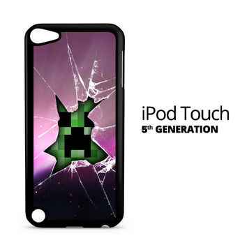 Minecraft Creeper Violet iPod Touch 5 Case