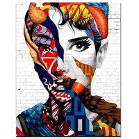 Unframed Decor Canvas Painting Wall Pictures 1 Panel Wall Art Classic Audrey Hepburn  Canvas Art Home Decor Modern Pictures,