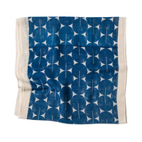 Ciclo Cotton Gauze Scarf - Mykonos Blue, Indligo Deep Blue navy