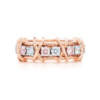 Tiffany & Co. -  Schlumberger Sixteen Stone Ring in 18k rose gold with Fancy Pink diamonds.