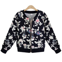 'The Annika' Black Floral Printed Jacket