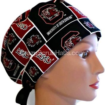 Women's Pixie Surgical Scrub Hat Cap in South Carolina Gamecocks