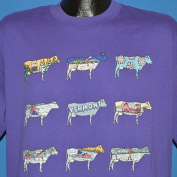 90s Vermont Cows Tourist t-shirt Extra Large