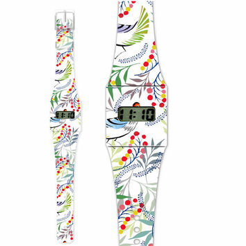 Fashion Pappwatch Made of Paper Tyvek - Florality Bird