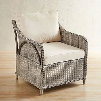 Newport Gray Large Woven Armchair