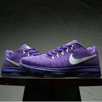 """NIKE"" ZOOM AIR Knit  Women Running Sport Casual Shoes Sneakers Purple"