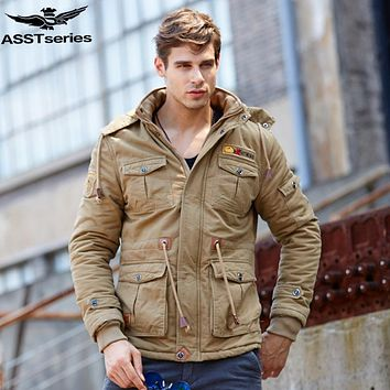 2016 Winter Parka Jacket Men Men's Military Tactical Army Jackets And Coats Thick Warm Down-cotton Parka Outwear Overcoat.DB12