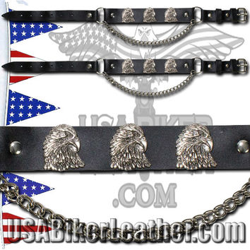 Pair of Biker Boot Chains - Eagle - SKU USA-BC12-DL