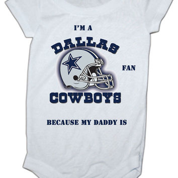 My Daddy is A Cowboys Fan Baby Onesuit