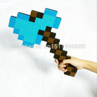 1Pc Foam Minecraft Axe & Sword & Pickaxe of my small world minecraft toys for children outdoor game free drop shipping