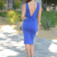Hilary Dress - Royal