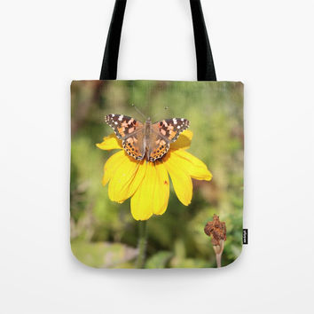 Autumn Butterfly Colors Tote Bag by Theresa Campbell D'August Art