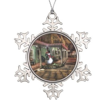 Old Fashion Frosty the Snowman Christmas Ornament