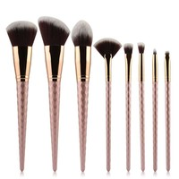 8pcs Professional Brushed Gold Professional Designer Makeup Brush Set