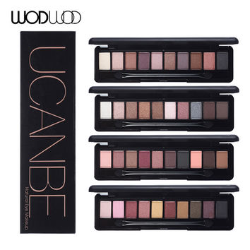 10 Warm Colors Natural Elegant Eye Shadow Practical Matte Eyeshadow Mineral Pigment Nude Makeup Palette Set With Brush
