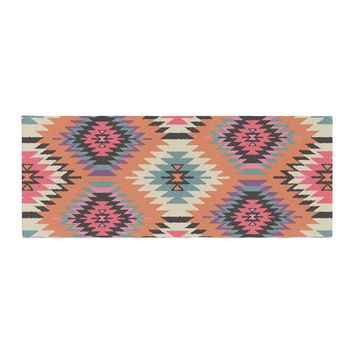 "Amanda Lane ""Southwestern Dreams"" Orange Pink Bed Runner"