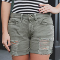 Combat Ready Denim Shorts