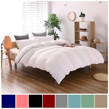 Cotton Bedding Sets Pillowcase Home Hotel Bedding Super Soft Wedding Gift White Duvet Cover Twin Queen King Size 2/3 pc No Sheet