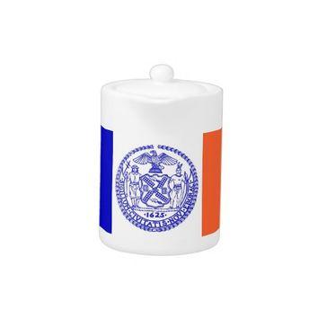 New York City Flag Teapot