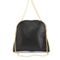 Convertible Chain Faux Leather Tote