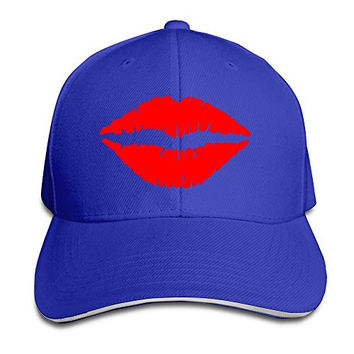 Kiss Mark Lips Stylish Hip Hop Hats