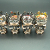 Crown Skull Head 3 Layer Herb Grinder
