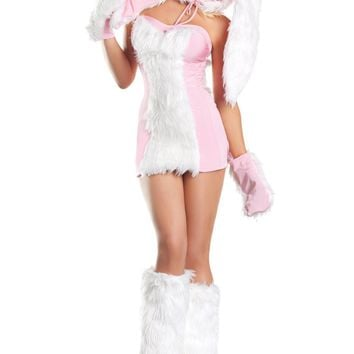 BW1296 6 Piece Blushing Bunny Costume - Be Wicked