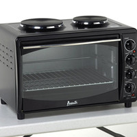 Avanti MKB42B Black Oven Convection Toaster 2 Burners Mini Kitchen