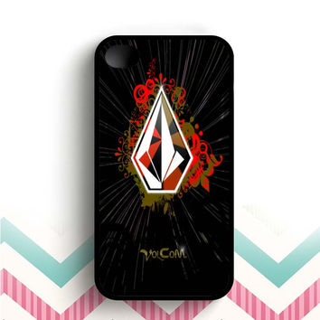 volcom black grafis  iPhone 4 and 4s case