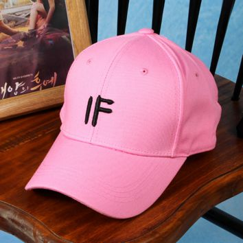Embroidered IF Baseball Hat Cap