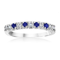 Genuine Blue Sapphire Band Ring