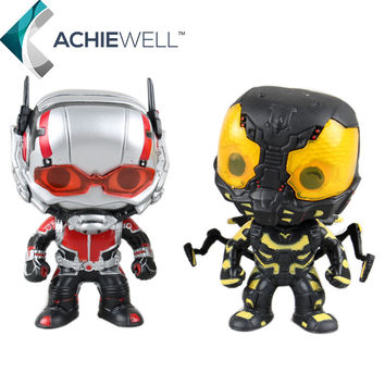 Sale Funko POP Marvel Superheroes Yellow Jacket Ant-Man Ant Man Vinyl Action Figure Collectible Model Plastic Toys For Kid Gift