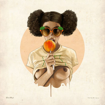 Sweet Peach Art Print by keith p. rein