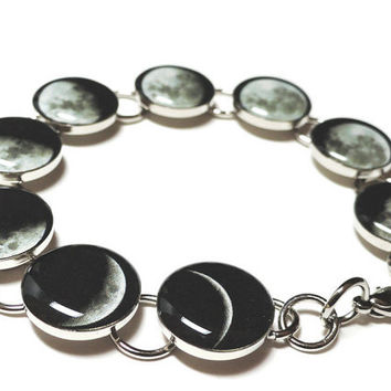 Phases Of The Moon Bracelet Moon Phase Bracelet Moon Bracelet