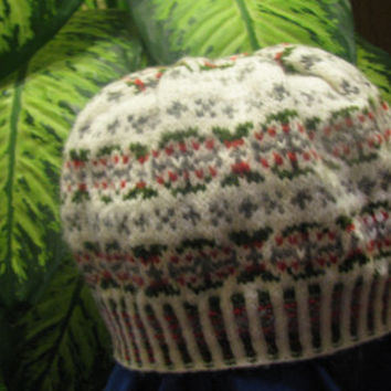 Knitted winter hat for men