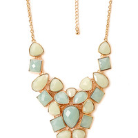 FOREVER 21 Opulent Faux Gemstone Necklace