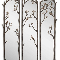 Uttermost Perching Birds Decorative Mirror Set/3 - 12788
