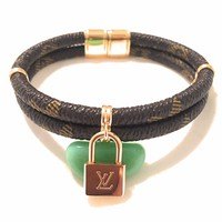 KC Luxurys Louis Vuitton Inspired KEEP IT TWICE MONOGRAM BRACELET Gold