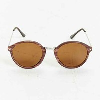 Wooden Round Sunglasses