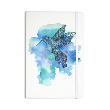 "Sonal Nathwani ""Hummingbird"" Blue Watercolor Everything Notebook"