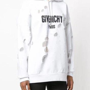 Givenchy Hole Hooded Sweater